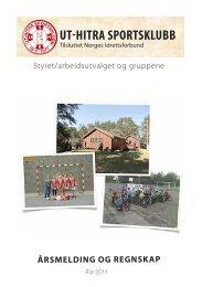 Årsmelding for 2011 - Ut-Hitra Sportsklubb