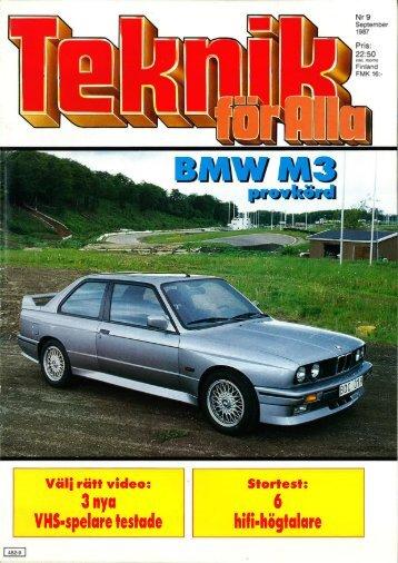 1987 - Svenska M3 E30 Registret