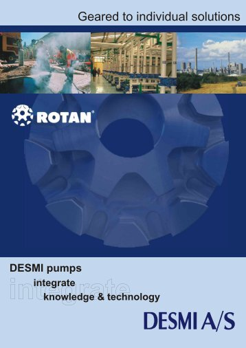 Rotan pump brochure - Process Pumps