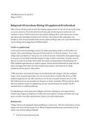 Bakgrund till förslaget om uppdaterad kvalitetskod - Frii