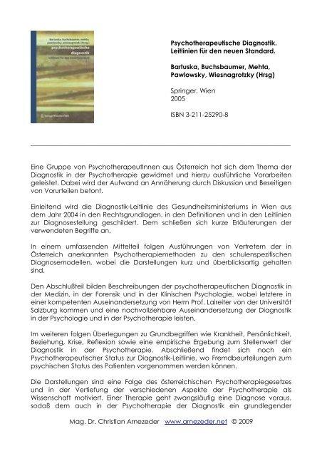 Psychotherapeutische Diagnostik Leitlinien Für Den Neuen Standard