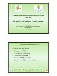 WarmteKrachtKoppeling: Basisbegrippen. - IBGE