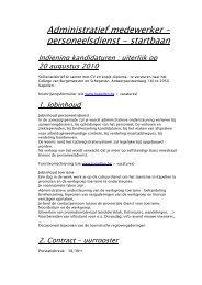 Administratief medewerker – personeelsdienst - startbaan