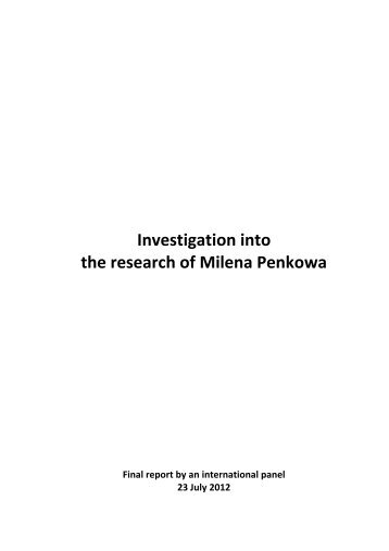 Investigation into the research of Milena Penkowa - Nyheder
