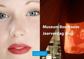 Museum Boerhaave, jaarverslag 2007