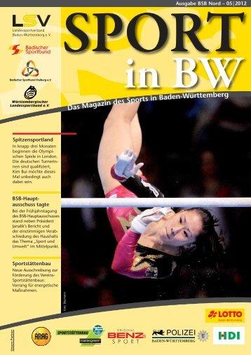 Sport in bw Nr. 05/12 - Badischer Sportbund Nord ev