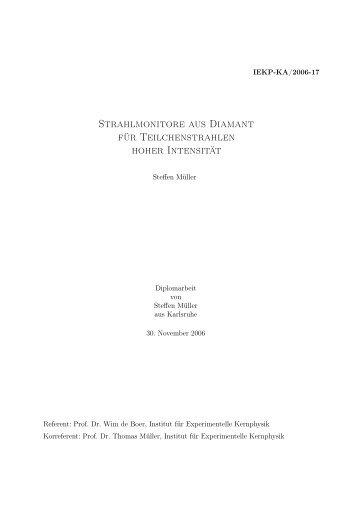IEKP-KA/2006-17 - Institut für Experimentelle Kernphysik