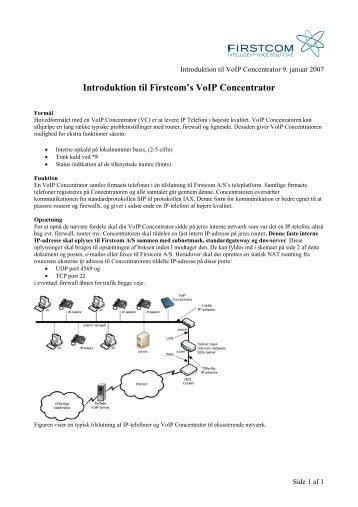 Installation af VoIP Concentrator - Firstcom