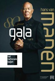 Programmaboek Hans van Manen gala - Het Nationale Ballet