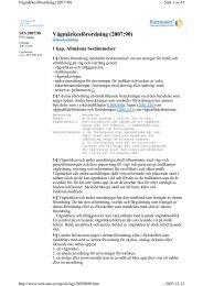 SFS 2007:90 Vägmärkesförordningen
