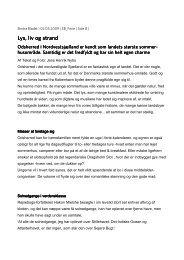 Ekstra Bladet, maj 2009. Lys, liv og strand - Dragsholm Slot