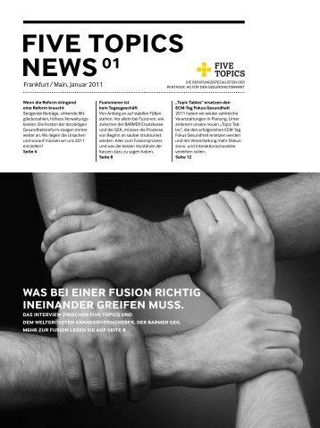 was bei einer fusion richtig ineinander greifen muss. - Five Topics AG