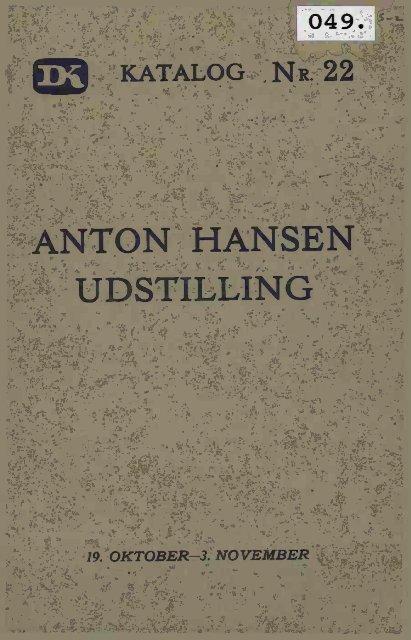 ANTON HANSEN UDSTILLING