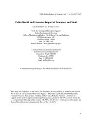 Public Health and Economic Impact of Dampness and Mold
