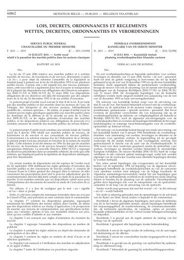 lois, decrets, ordonnances et reglements wetten, decreten ...
