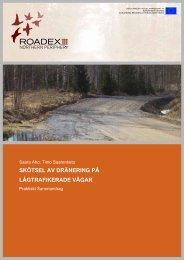 Skötsel av dränering på lågtrafikerade vägar (2006) - ROADEX
