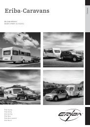 Eriba Technische Gegevens & Prijslijst 2013 - UwCaravan.nl