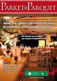 Houten vloer in Belfort Café & Restaurant in Gent Du parquet pour le ...