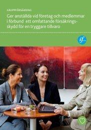 Gruppförsäkring, försäkring för företag och förbund - If