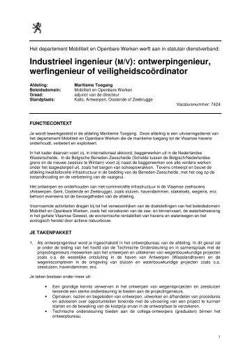 Industrieel ingenieur (M/V) - Jobpunt Vlaanderen
