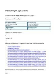 Beleidsregel ligplaatsen - Provincie Drenthe