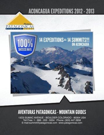 aconcagua 2011 2012 - Aventuras Patagonicas