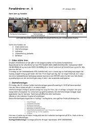 2012-10-26 Forældrebrev nr. 6 - Aabenraa Friskole