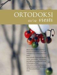 Ortodoksiviesti 1/12 - Hos.fi