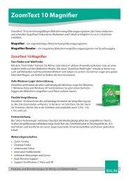 Zoomtext 10 Magnifier - BAUM Retec AG