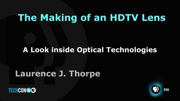 The Making of an HDTV Lens - PBS