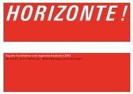 HORIZONTE ! - Hamburgische Architektenkammer