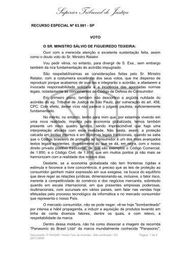 CDC 30 STJ Sálvio de Figueiredo Teixeira - Direito Com Ponto Com