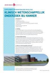 Klinisch wetenschappelijK onderzoeK bij KanKer - Jeroen Bosch ...