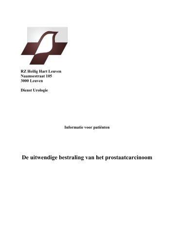 De uitwendige bestraling van het prostaatcarcinoom - Wat is Urologie?
