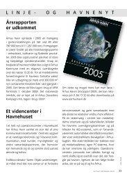 Årsrapporten er udkommet Et videncenter i ... - Århus Havn