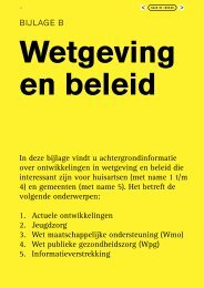 Werkmap gemeente-huisarts, bijlage B - Vereniging van ...