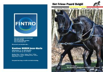 Het Friese Paard België voorjaar 2011 (boekje) - BSFP