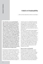 I-deals en Employability - Factor Vijf