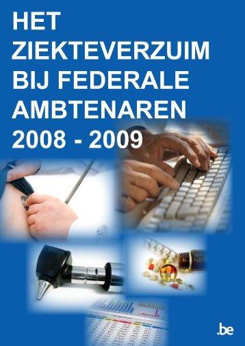 het ziekteverzuim bij federale ambtenaren 2008 - 2009 - Fedweb