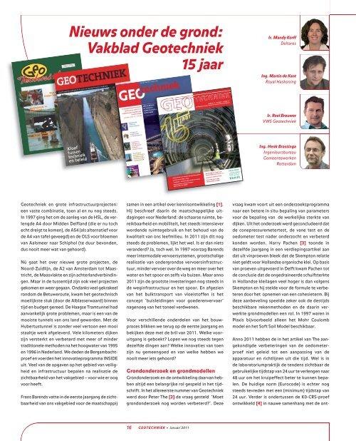 15 jaar Geotechniek