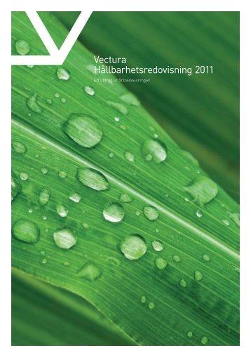 Vectura Hållbarhetsredovisning 2011