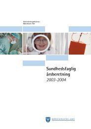 Sundhedsfaglig årsberetning 2003-2004 - K?benhavns Amt