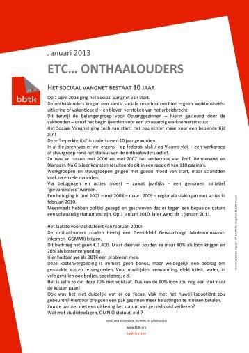 Etcetera: 10 jaar sociaal vangnet onthaalouders - BBTK