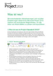 1. Was ist neu in Project Standard 2010? - Basis 1