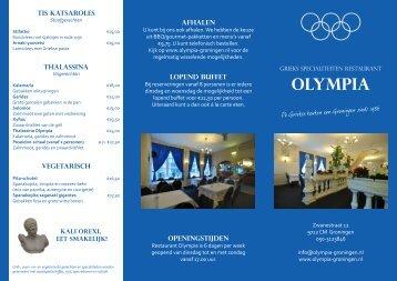 menufolder - Olympia   Grieks Specialiteiten Restaurant