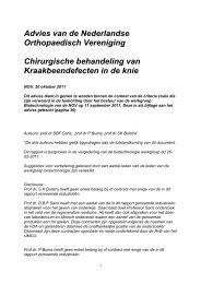 NOV advies Kraakbeenherstel Knie, 20 oktober 2011 - Nederlandse ...