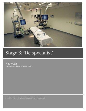 Stageverslag 4 (pdf) - Plastisch chirurgen