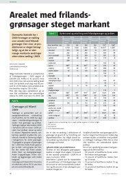 Arealet med frilands- grønsager steget markant - Gartneribladene