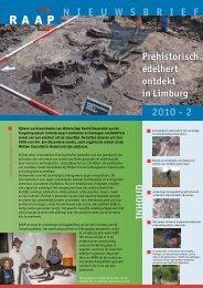 N I E U W S B R I E F 2010 - 2 - RAAP Archeologisch Adviesbureau