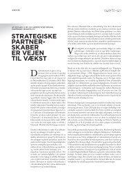 strategiske partner- skaber er vejen til vækst - Quartz+Co